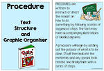 Procedure Text | Structure and Graphic Organiser | Charts