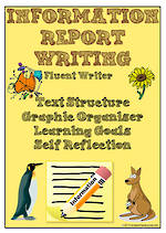 Information Report Writing | Learning Goals and Self Reflection | Charts | Fluent Writer