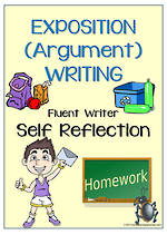 Exposition (Argument) Writing | Self-Reflection and Certificate Award | Charts | Fluent Writer