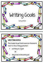 Writing Goals | Early Writers
