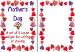 Mother's  Day |Heart and Flower  Borders | Template | Blank Page