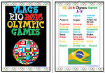 Rio 2016 Olympic  Games  | A-B | Flags | Writing Prompt