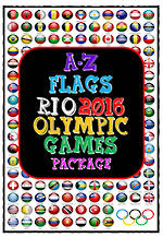 Rio 2016 Olympic  Games  | A-Z | Flags | Writing Prompt | PACKAGE