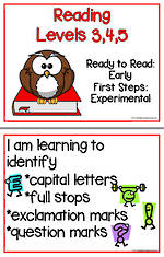 Early Reading | Levels 3,4,5 | Learning Goals | Flip Charts