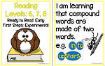 Early Reading | Levels 6,7,8 | Learning Goals | Flip Charts