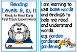Early Reading | Levels 9,10,11 | Learning GoalS | Flip Charts