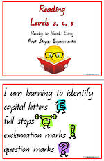 Early Reading  | Levels 3,4,5 | QBeginners font  |Learning Goals | Flip Charts