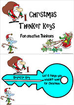 Christmas Thinker Keys |  For Creative Thinkers